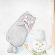 くまモンと雪だるま